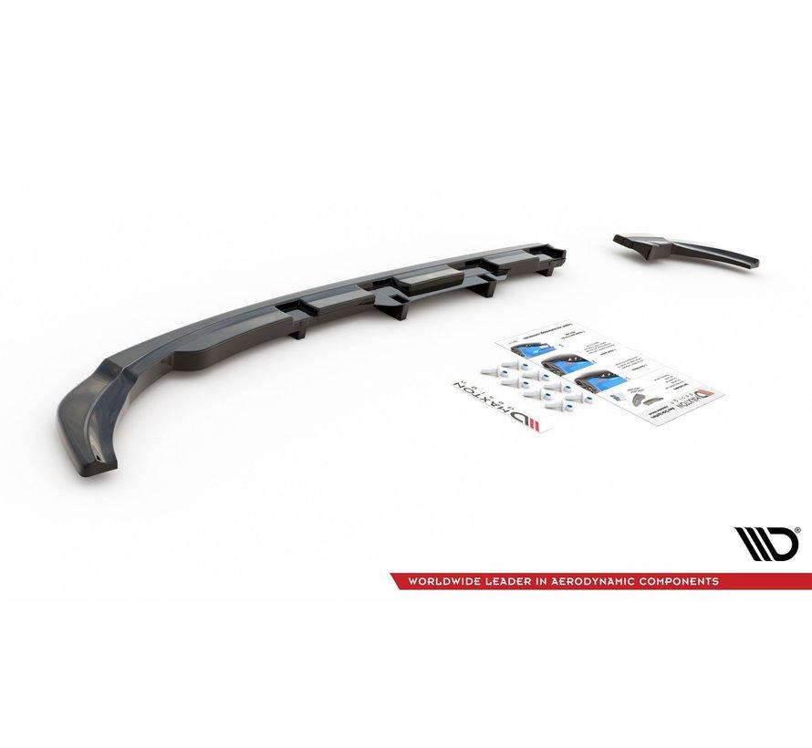 Maxton Design CENTRAL REAR DIFFUSER (with vertical bars) VW Polo 6 GTI Mk6
