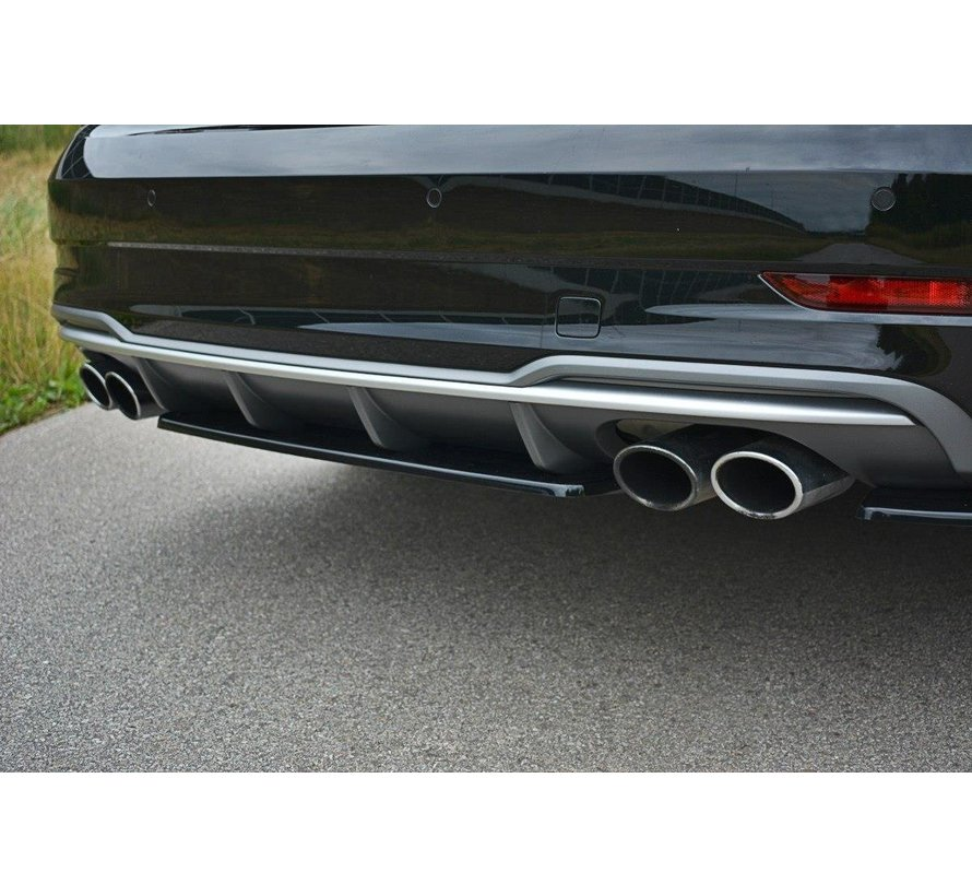 Maxton Design CENTRAL REAR SPLITTER AUDI S3 8V FL HATCHBACK / SPORTBACK / SEDAN