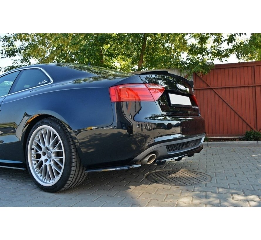 Maxton Design CENTRAL REAR SPLITTER AUDI A5 S-LINE 8T COUPE / SPORTBACK (WITH A VERTICAL BAR)