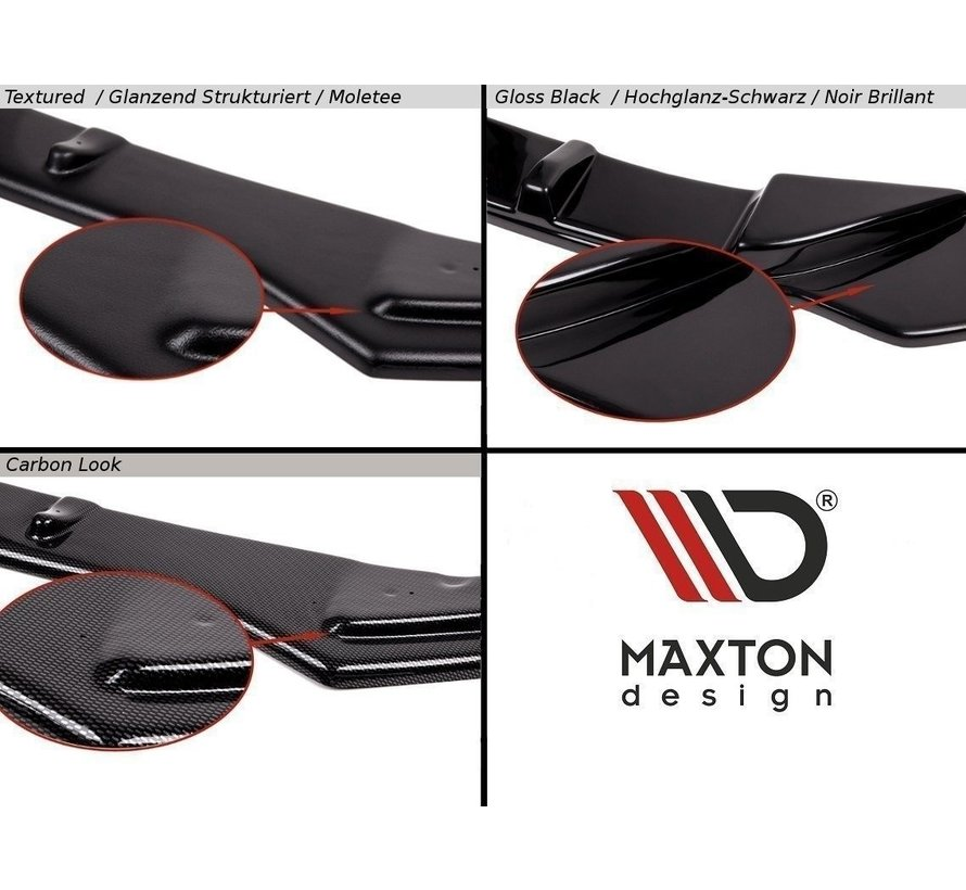 Maxton Design CENTRAL REAR DIFFUSER AUDI A6 C7 S-LINE AVANT EXHAUST 2x1 (with vertical bars)