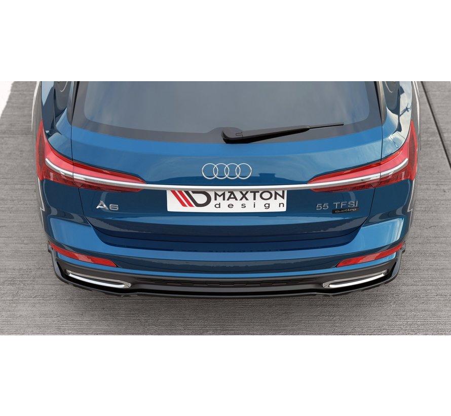 Maxton Design CENTRAL REAR DIFFUSER Audi A6 S-Line Avant C8
