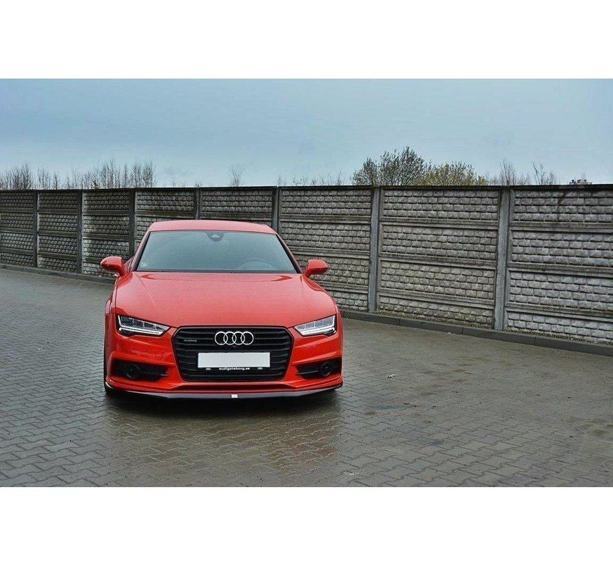 Maxton Design FRONT SPLITTER Audi S7 / A7 S-Line C7 FL
