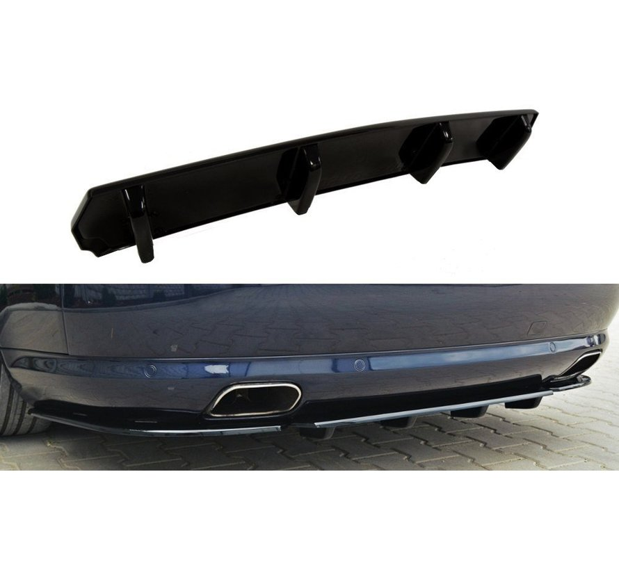 Maxton Design CENTRAL REAR DIFFUSER Audi A8 W12 D3 (with vertical bars)