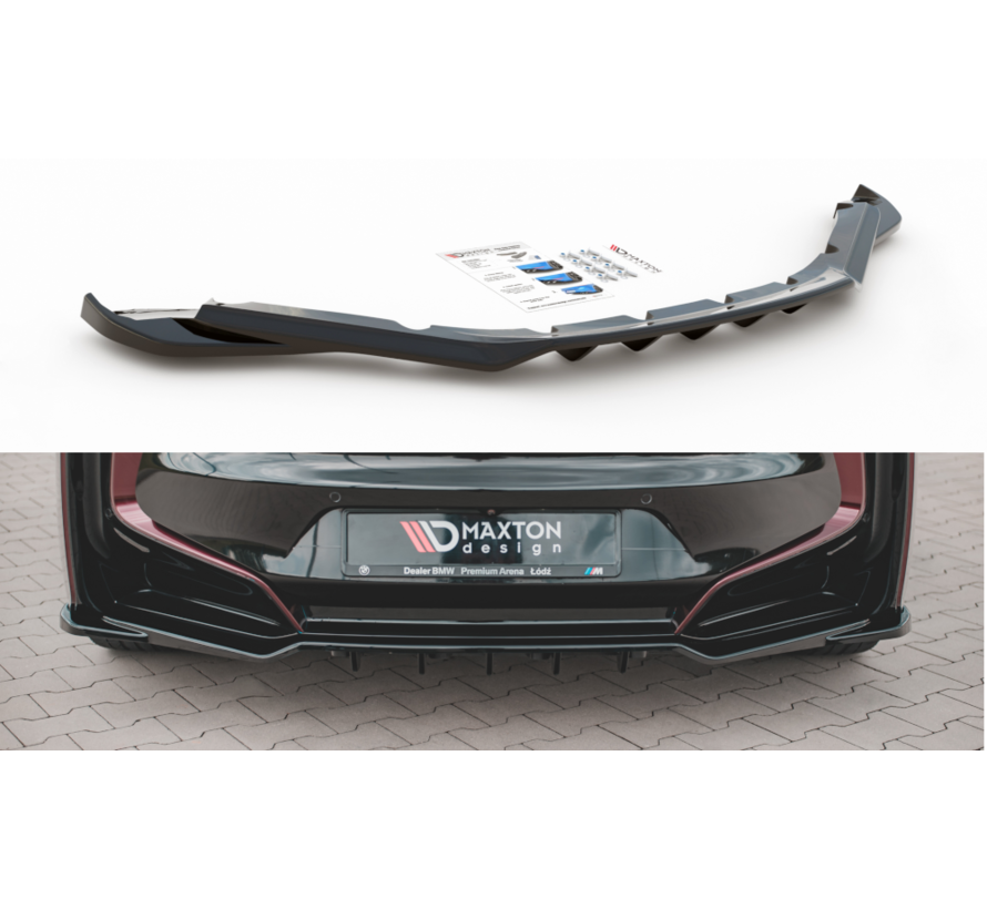 Maxton Design CENTRAL REAR DIFFUSER (with vertical bars) BMW i8