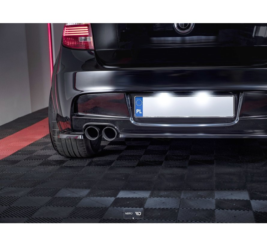 Maxton Design CENTRAL REAR SPLITTER (WITHOUT VERTICAL BARS) BMW 1 E81/ E87 M-PACK FACELIFT