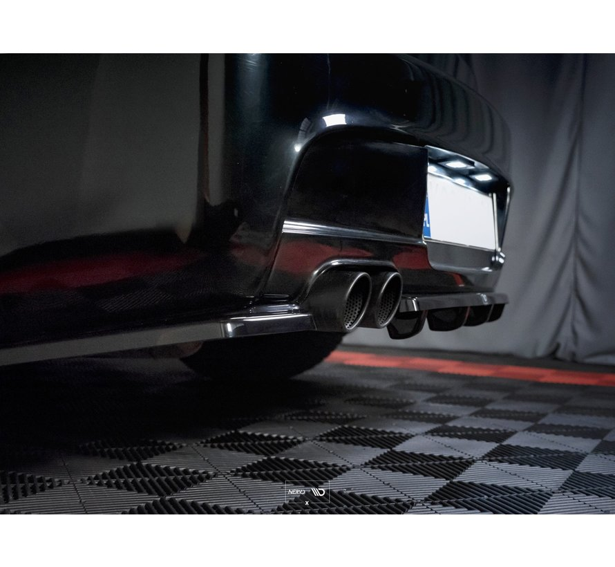 Maxton Design CENTRAL REAR SPLITTER (WITH VERTICAL BARS) BMW 1 E81/ E87 M-PACK FACELIFT
