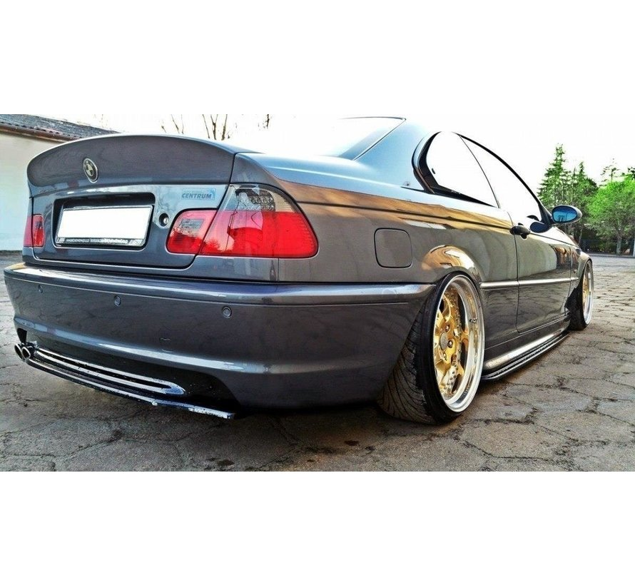 Maxton Design CENTRAL REAR DIFFUSER BMW 3 E46 MPACK COUPE (without vertical bars)