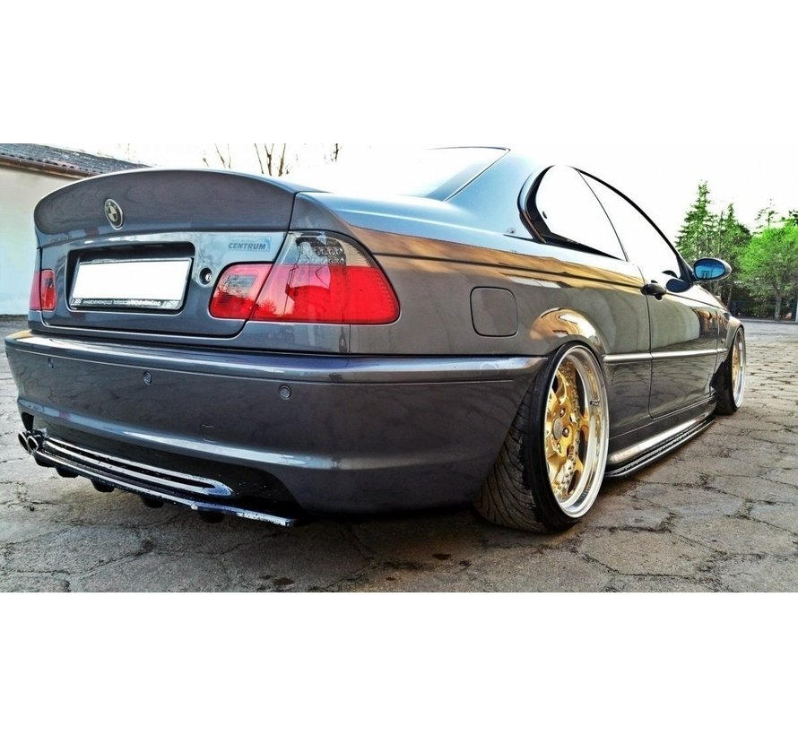 Maxton Design CENTRAL REAR DIFFUSER BMW 3 E46 MPACK COUPE (with vertical bars)