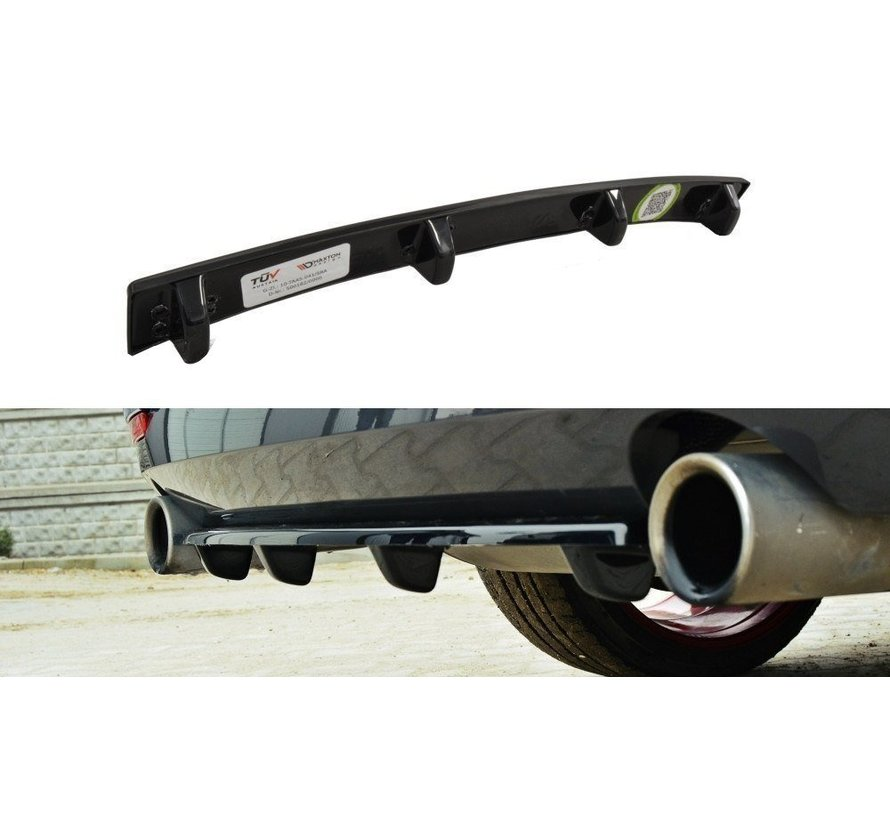 Maxton Design CENTRAL REAR DIFFUSER BMW 4 F32 M-PACK (with vertical bars)