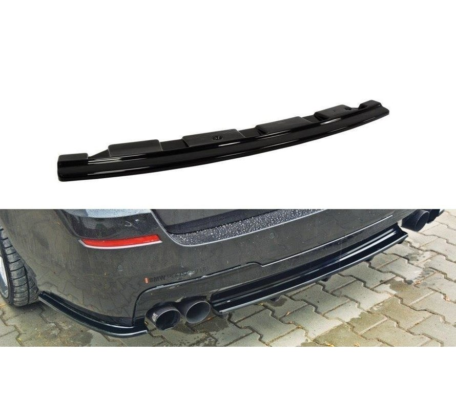 Maxton Design CENTRAL REAR DIFFUSER BMW 5 F11 M-PACK - without vertical bars (fits two double exhaust ends)