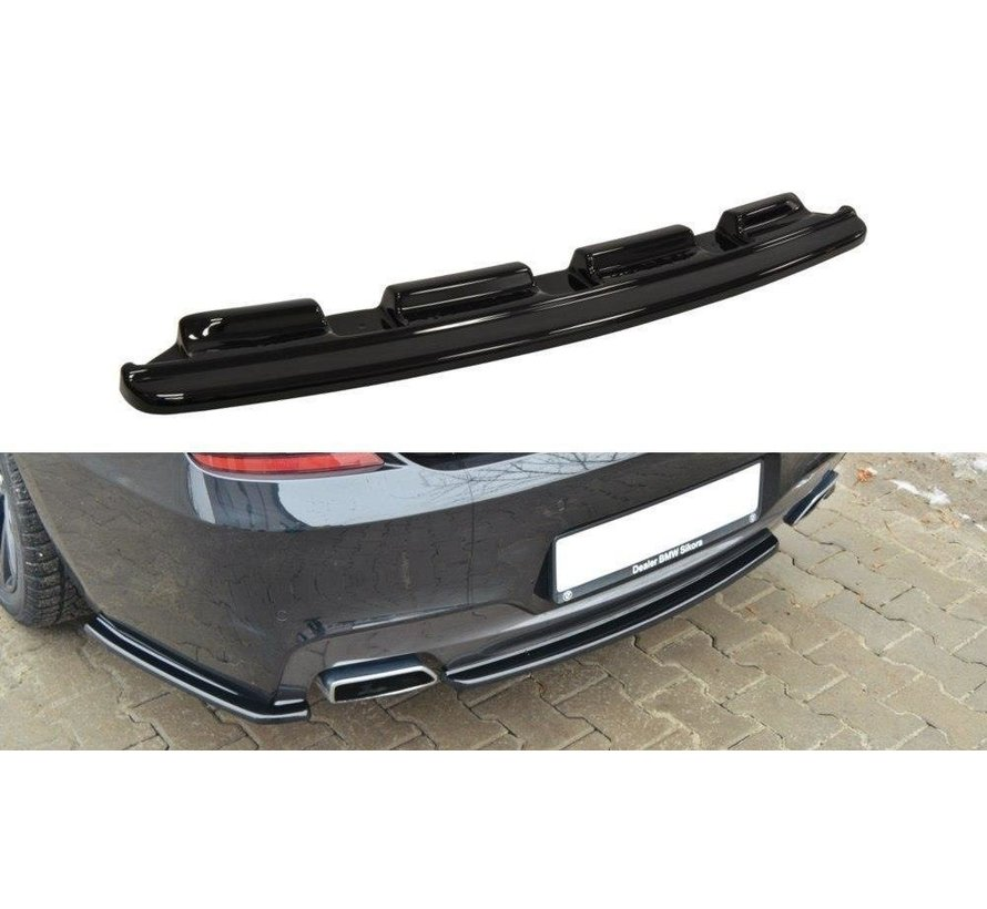 Maxton Design CENTRAL REAR DIFFUSER BMW 6 Gran Coupé MPACK (without vertical bars)