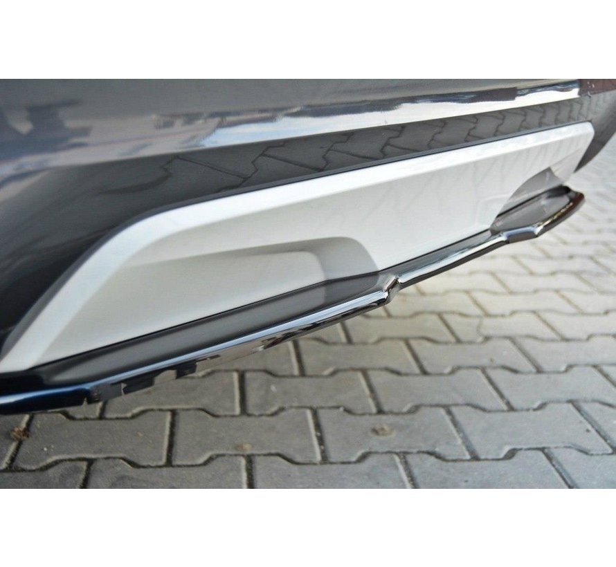 Maxton Design CENTRAL REAR DIFFUSER BMW X4 M-PACK (without a vertical bar)