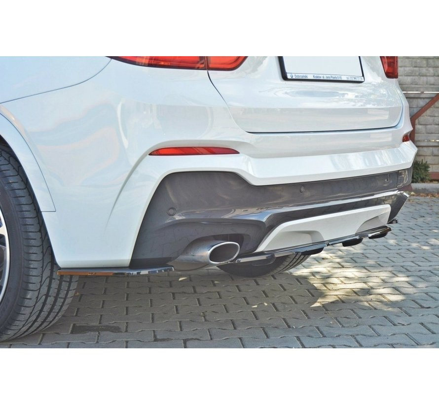 Maxton Design CENTRAL REAR DIFFUSER BMW X4 M-PACK (with a vertical bar)