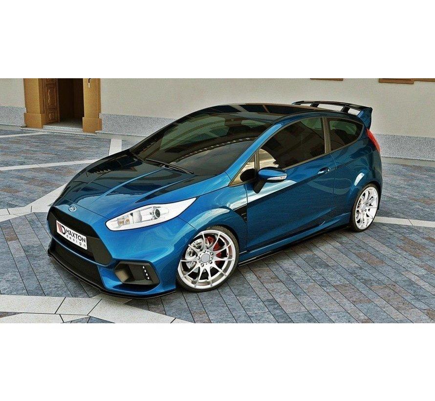 Maxton Design FRONT SPLITTER (Focus RS Look Bumper) Ford Fiesta Mk7 FL