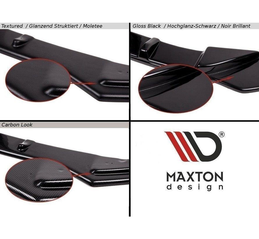 Maxton Design FRONT SPLITTER V.1 Ford Focus ST Mk3