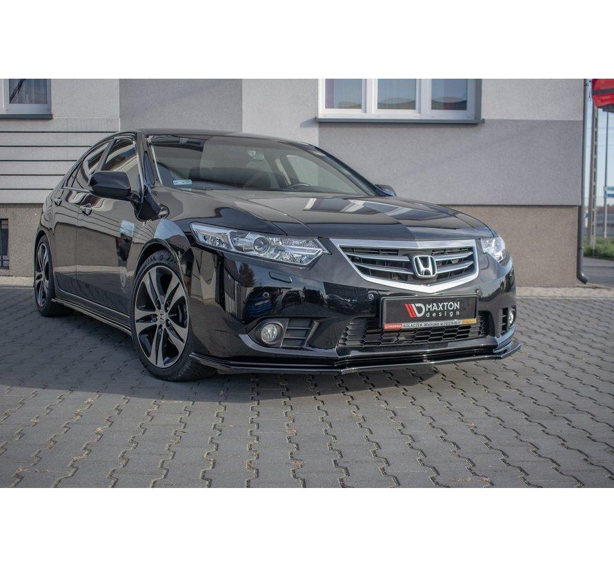 Maxton Design FRONT SPLITTER  Honda Accord VIII (CU Series) Facelift