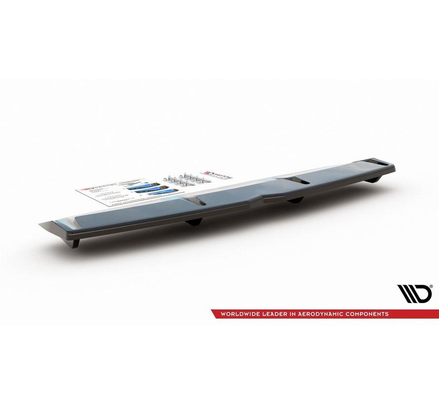 Maxton Design CENTRAL REAR DIFFUSER (with vertical bars) Hyundai I30 N Mk3 Fastback