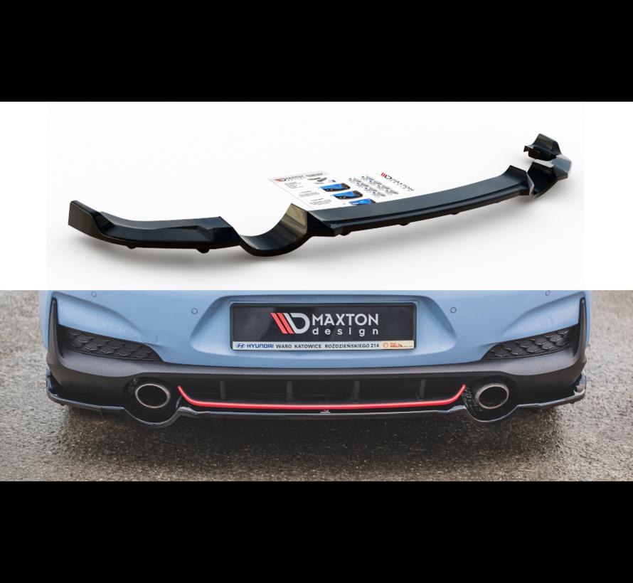 Maxton Design CENTRAL REAR DIFFUSER (with vertical bars) Hyundai I30 N Mk3 Hatchback