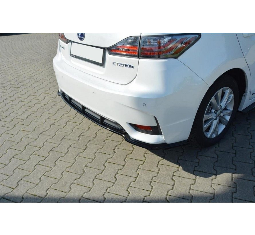 Maxton Design CENTRAL REAR DIFFUSER Lexus CT Mk1 Facelift (without vertical bars)