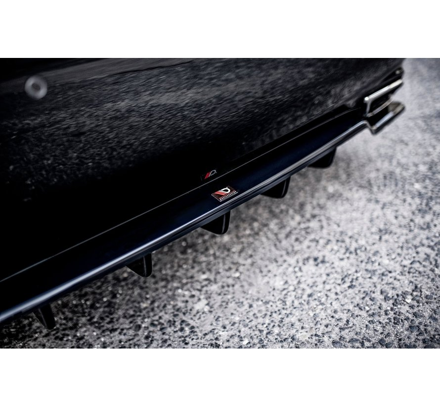 Maxton Design CENTRAL REAR DIFFUSER (with vertical bars) Leuxs LS Mk4 Facelift