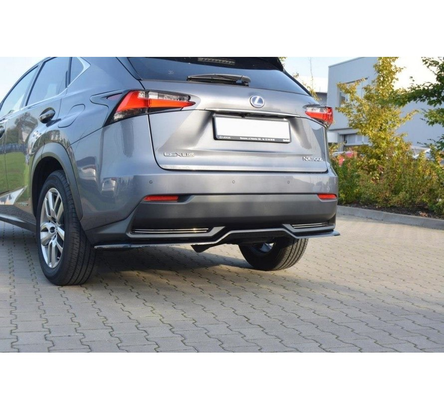 Maxton Design CENTRAL REAR DIFFUSER Lexus NX Mk1 H (without vertical bars)