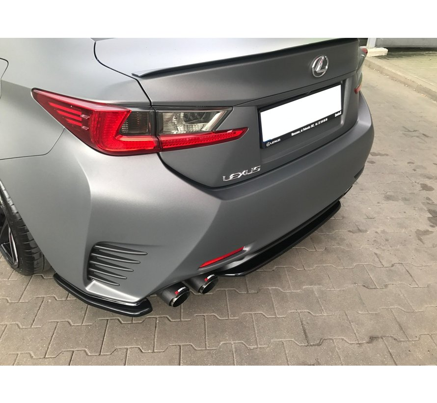 Maxton Design CENTRAL REAR DIFFUSER (WITHOUT VERTICAL BARS) Lexus Rc