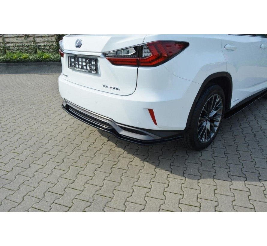 Maxton Design CENTRAL REAR DIFFUSER Lexus RX Mk4 H (without vertical bars)