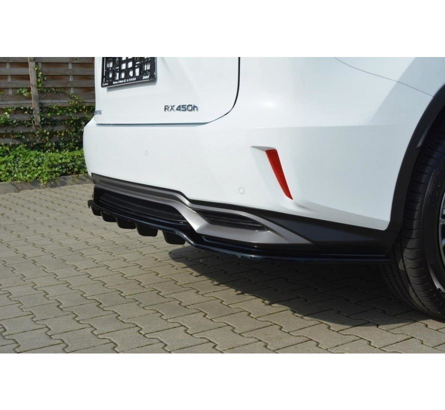 Maxton Design CENTRAL REAR DIFFUSER Lexus RX Mk4 H (with vertical bars)