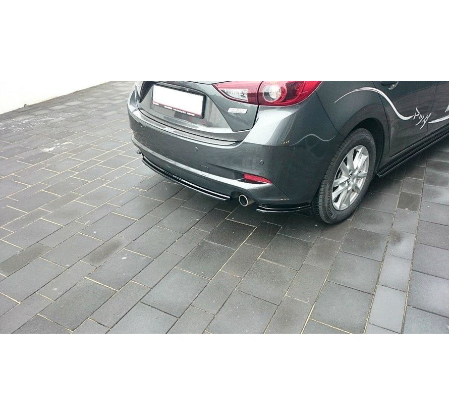 Maxton Design CENTRAL REAR DIFFUSER Mazda 3 BM (Mk3) Facelift (without vertical bars)