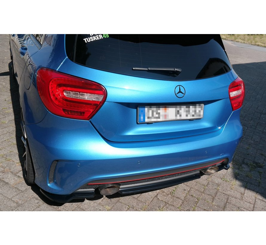 Maxton Design CENTRAL REAR DIFFUSER (WITHOUT VERTICAL BARS) MERCEDES-BENZ W176 AMG-LINE PREFACE