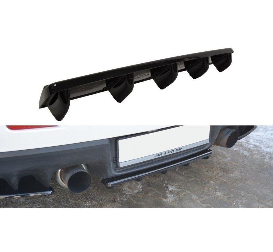 Maxton Design CENTRAL REAR DIFFUSER Mitsubishi Lancer Evo X (with vertical bars)