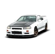 Maxton Design Maxton Design FRONT BUMPER NISSAN SKYLINE R34 GTT (WITHOUT DIFFUSER, FIT ONLY WITH 2299-1 WIDE ARCHES AND WITH GTR BONNET)