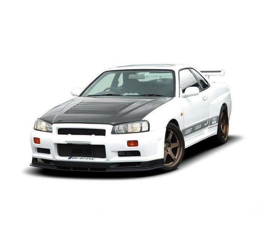 Maxton Design FRONT BUMPER NISSAN SKYLINE R34 GTT (WITHOUT DIFFUSER, FIT ONLY WITH 2299-1 WIDE ARCHES AND WITH GTR BONNET)