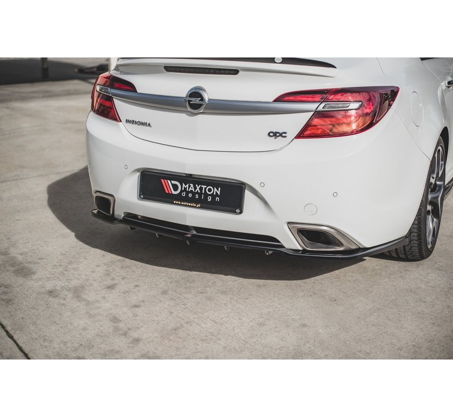 Maxton Design CENTRAL REAR DIFFUSER (with vertical bars) Opel Insignia Mk. 1 OPC Facelift