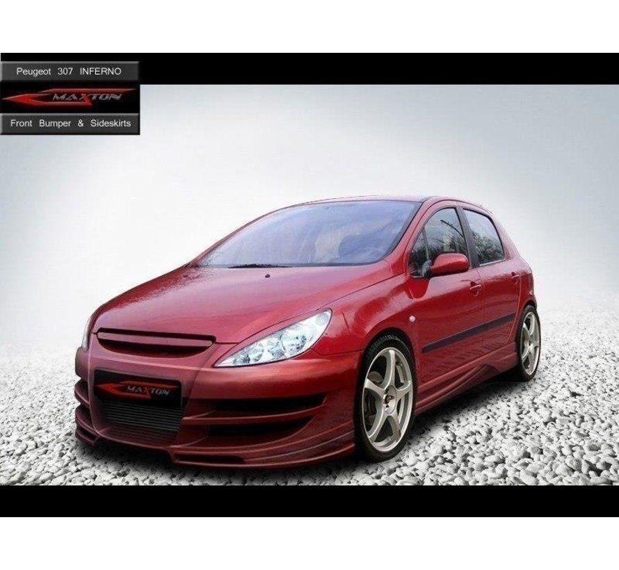 Maxton Design FRONT BUMPER < INFERNO > PEUGEOT 307 PHASE I