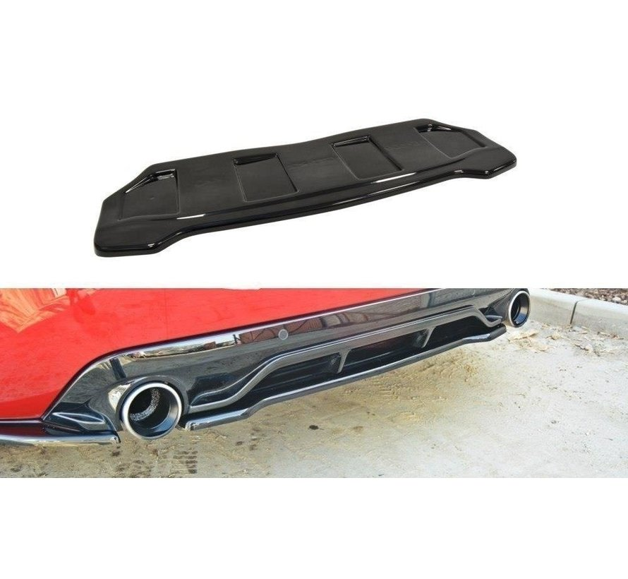 Maxton Design CENTRAL REAR DIFFUSER PEUGEOT 308 II GTI (without vertical bars)