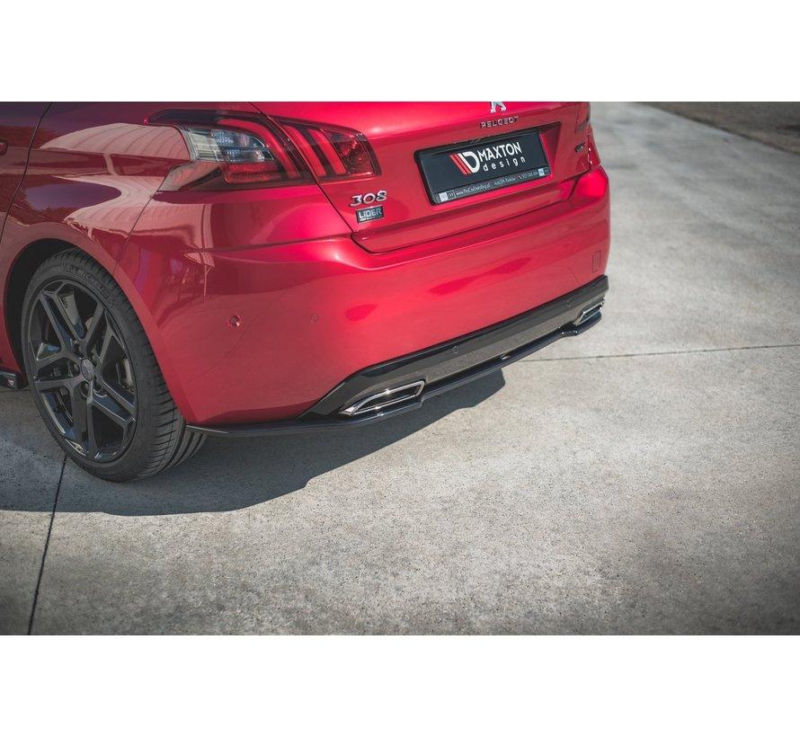 Maxton Design CENTRAL REAR DIFFUSER Peugeot 308 GT Mk2 Facelift