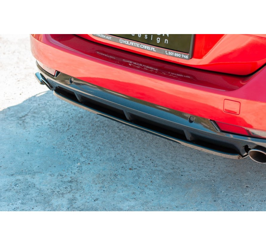 Maxton Design CENTRAL REAR DIFFUSER(without vertical bars) Peugeot 508 SW Mk2