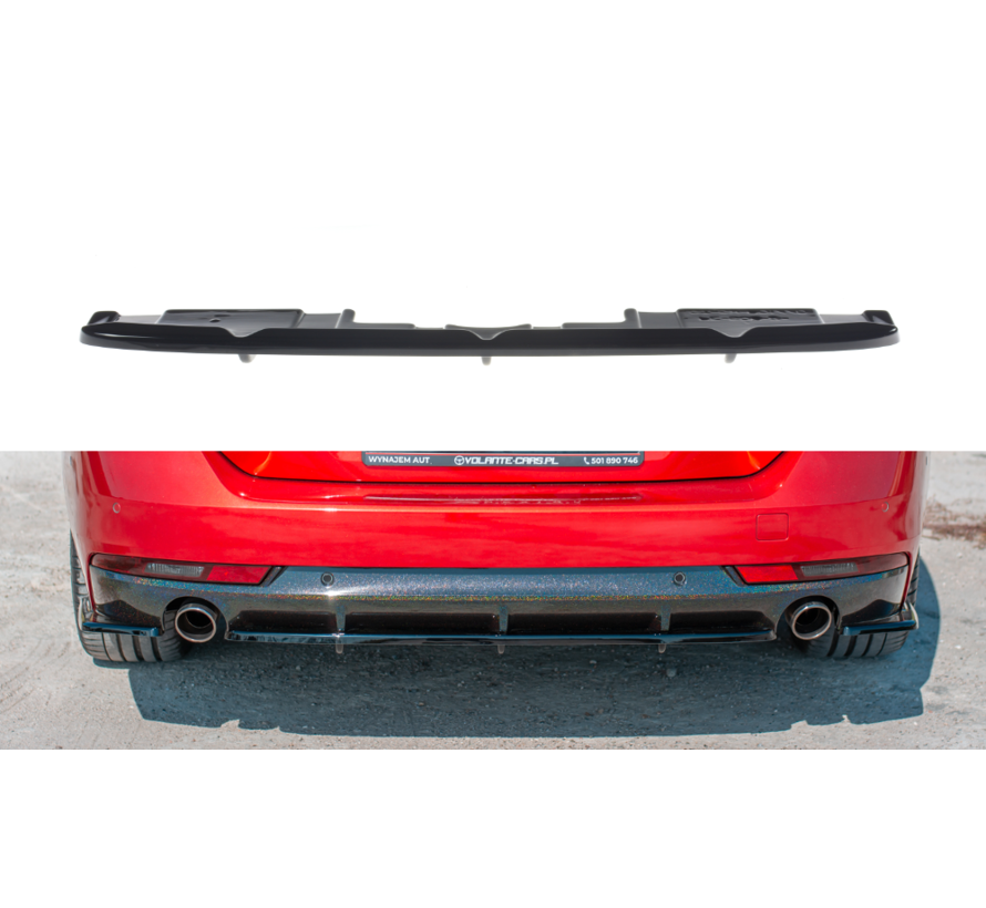 Maxton Design CENTRAL REAR DIFFUSER(with vertical bars)  Peugeot 508 SW Mk2