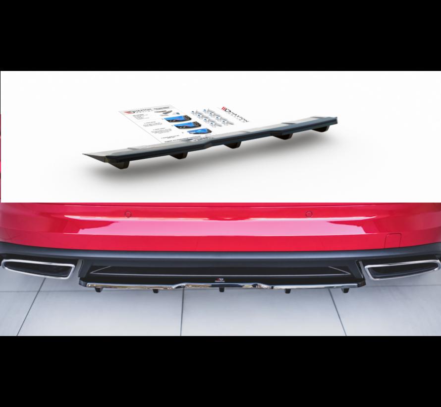 Maxton Design CENTRAL REAR DIFFUSER (with vertical bars) Skoda Kodiaq RS