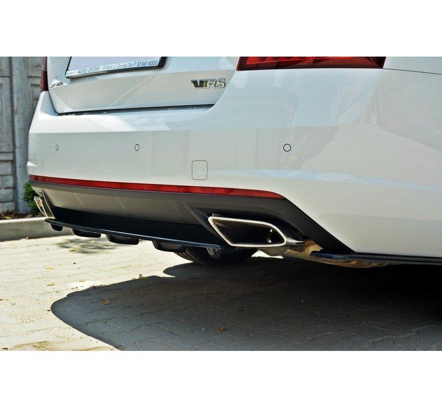 Maxton Design CENTRAL REAR DIFFUSER Skoda Octavia RS Mk3 / Mk3 FL Hatchback / Estate