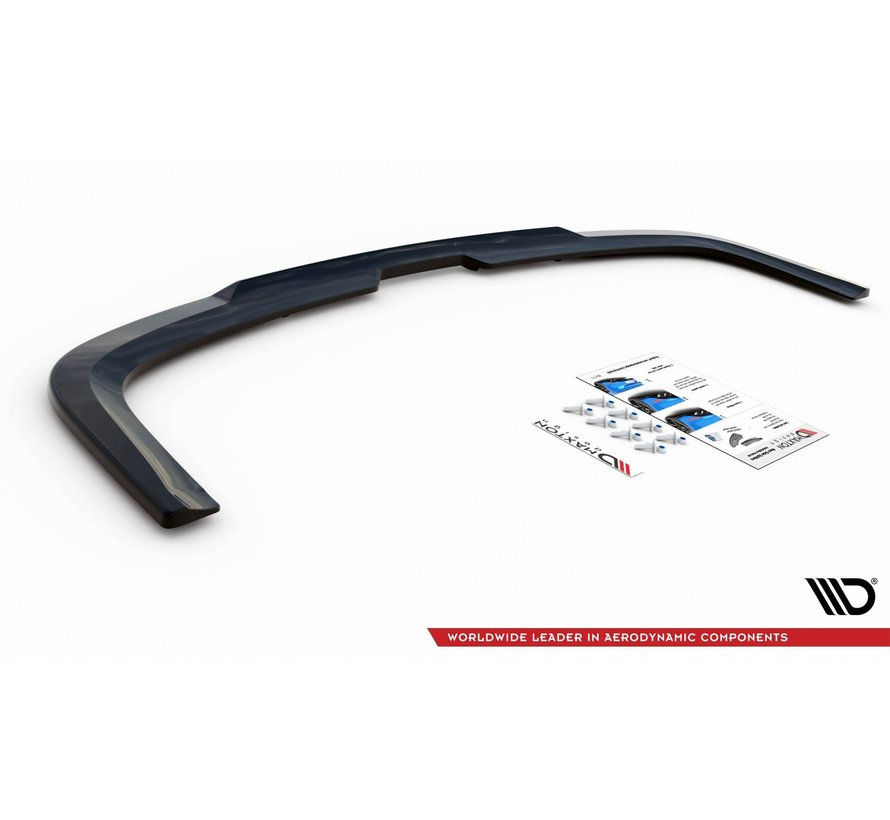 Maxton Design CENTRAL REAR DIFFUSER (with vertical bars) Volkswagen Caddy Mk. 4