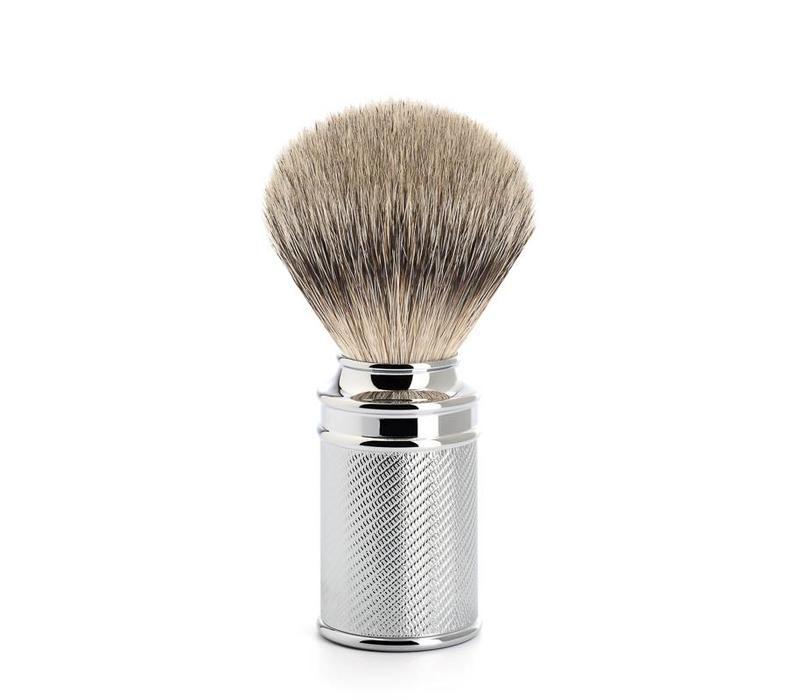 Scheerkwast Silvertip Dassenhaar - Chroom
