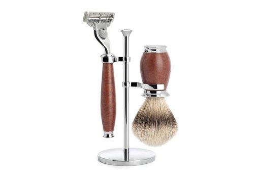 MÜHLE Scheerset Purist - Briar hout - Mach3® - Dashaar