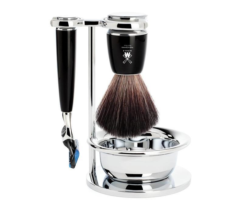 Scheerset Rytmo 4-delig - Zwart - Fusion®