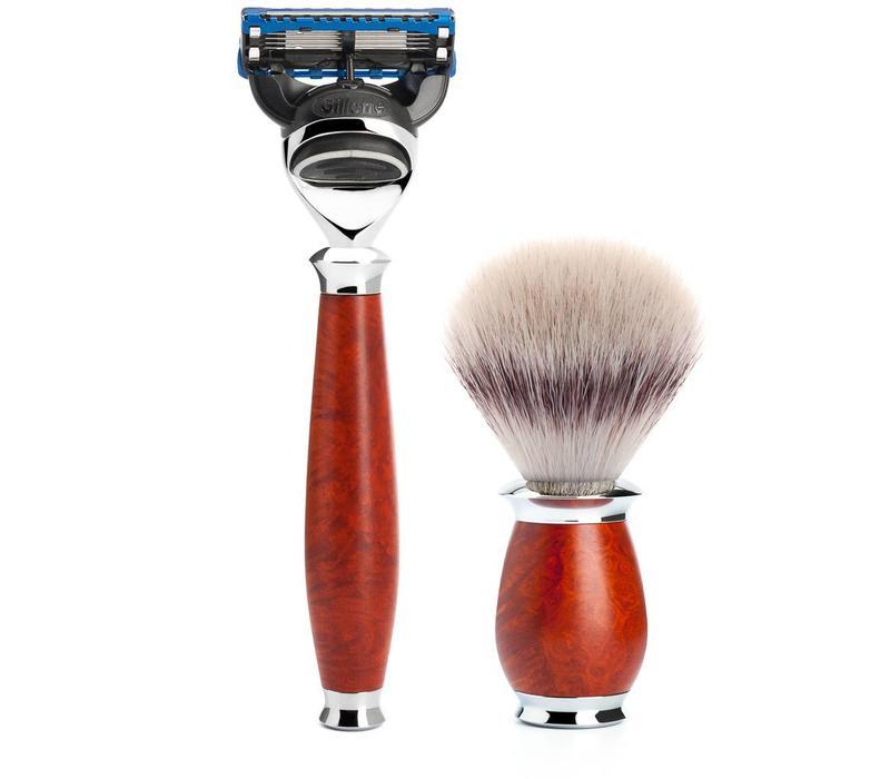 Scheerset Purist 3-delig - Briar hout - Fusion®