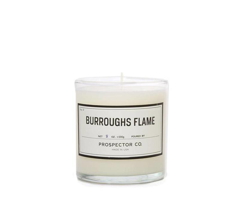 Prospector Co. Candle Burroughs Flame 8 oz.