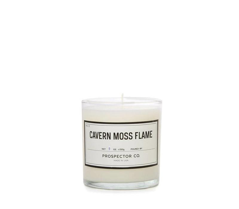 Prospector Co. Candle Cavern Moss Flame 5 oz.