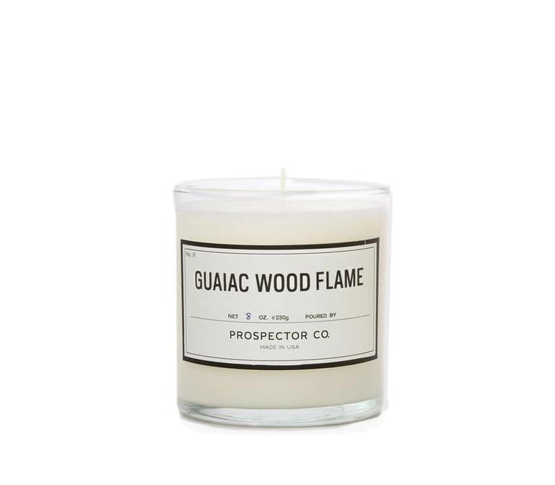 Prospector Co. Candle Guaiac Wood Flame 8oz.