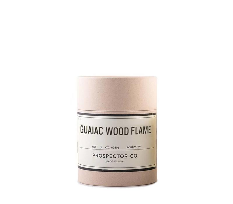 Prospector Co. Candle Guaiac Wood Flame 5oz.